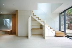 6 deco ideas for a design show - HomeCNB Modern Staircase, Staircase Design, Dartmouth Park, Stairway Storage, Escalier Design, Small Windows, Under Stairs, Stairways, New Homes