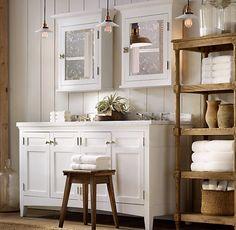 lights, white + wood combo.