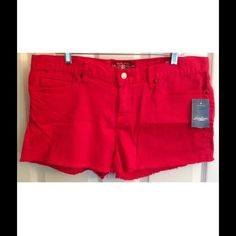 """Lucky Brand Riley Boyfriend shorts Hot pink color.  Riley boyfriend style. Cut-off hems. Super-stretchy- cotton/spandex. New with tags. Waist- 37"""", inseam- 3"""", rise- 9"""". I have another pair of these in the orange color. Stock photo is just to show fit Lucky Brand Shorts"""