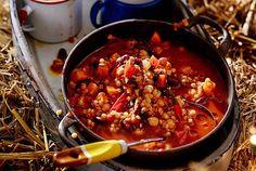 Unser beliebtes Rezept für Linsenchil(l)i und mehr als 65.000 weitere kostenlose Rezepte auf LECKER.de. Vegetarian Cooking, Allrecipes, Food To Make, Cravings, Curry, Veggies, Favorite Recipes, Trends, Fitness