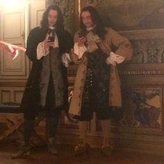 Alexander Vlahos & George Blagden on the set of Versailles