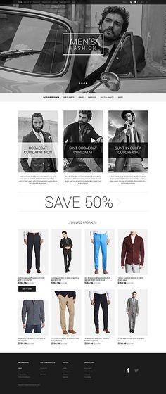Template 50476 - Men's Fashion  Responsive OpenCart Template