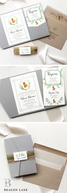"""""""Velveteen Rabbit"""" Baby Shower Invitations are sweet and cuddly, cute and fun.  We're sure to have the perfect invite to shower the new mom!"""