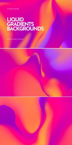 **Holographic Gradient Backgrounds Overview** This abstract bright fluidly wallpaper set has a rare combination of vibrant design and multiplicity potential of using. Background Images Wallpapers, Backgrounds, Gradient Background, Editorial Design, Sim, Backdrops, Template, Graphic Design, Abstract