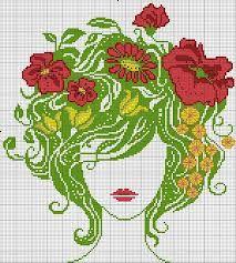 haft krzyżykowy wzory kobieta - Szukaj w Google