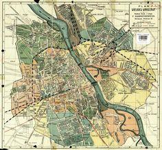 Mapa Warszawy z 1928 roku. Widać na niej okręg Grochów