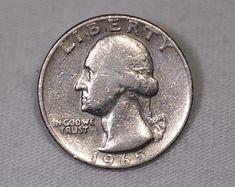 SUPER RARE 1965 Quarter Error   Etsy Silver Coins Worth, Rare Coin Values, Old Coins Value, Old Coins Worth Money, Valuable Coins, Rare Stamps, Quarter Dollar, Dragonfly Jewelry, Error Coins