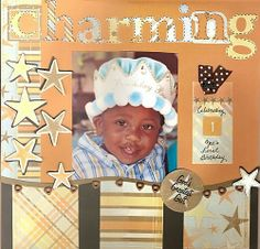 scrapbooking layouts | Baby Scrapbook Pages - Prince Charming