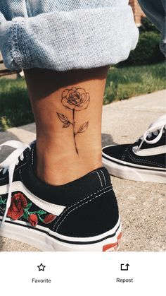 Rose on the ankle