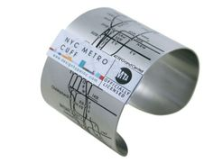 Subway map cuff bracelet...  I want one for all my travels!