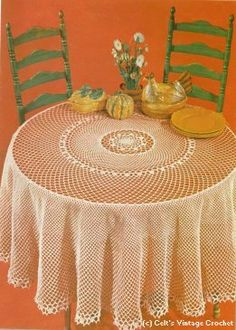 Round and Round Tablecloth - Written Pattern