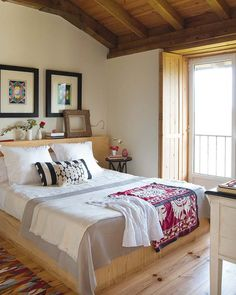 Love this place in Spain.. could so imagine lying on this bed on a lovely breezy summers day listening to the birdies singing outside... ah, one can dream!