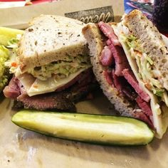 Wexler's Deli in Los Angeles, CA - inside grand cental market. must have pastrami sammie and coleslaw - but it sells out daily!