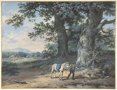 Pieter Barbiers II (Dutch, 1749–1842). A Peasant Leading his Horse on the Outskirts of a Wood, late 18th–mid 19th century. The Metropolitan Museum of Art, New York. Van Day Truex Fund, 1992 (1992.143)