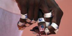 Destinee Hooker est une volleyeuse américaine qui dispute les Jeux olympiques à Londres. Et elle tient à le faire savoir à sa manière. - REUTERS/© Ivan Alvarado / Reuters
