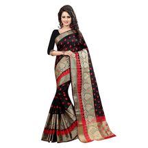 Shree Sanskruti Designer Black Poly Cotton Saree With Blouse Pic