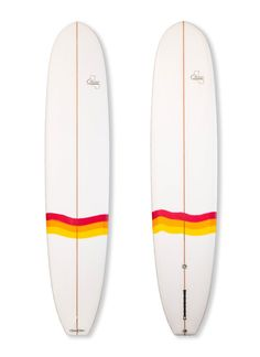 "If you want to cruise & log-ride Malibu style, the Classic Californian is the tool for the job. Features: parallel, full rails, wide square tail for nose riding or diamond tail for more looseness, gentle rocker, wide nose & plenty of volume. A board for long point waves.  9'6'' x 22 3/4"" 3""  Nose Width: 18 3/4""  Tail Width: 15 3/4"""
