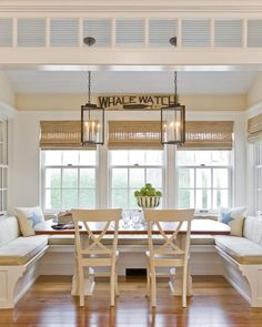 We love this sunny window breakfast nook!