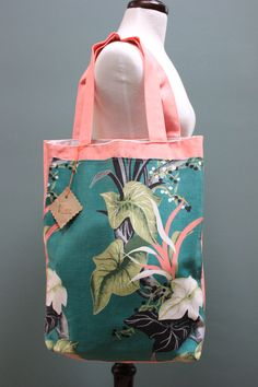 Vintage Barkcloth tote by Fruition