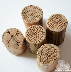 DIY Stamps from branches.