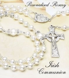 Personalised First Holy Communion Rosaries & Personalized Rosary Beads for Boys and Girls Communion Gifts