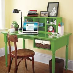 Add storage cubbies  to your desktop to stash loose papers and make paying bills less daunting.