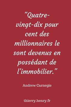 http://www.thierry-henry.fr #citation #immobilier #investissement