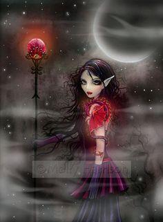 Gothic Dragon Fairy Fantasy Fine Art Print  by by MollyHarrisonArt, $18.00