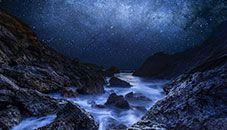 Cyan Starry Night