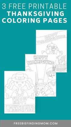 Do you want a fun Thanksgiving activity for kids? These cute Free Printable Thanksgiving Coloring Pages will do the trick! Choose from 3 designs that include adorable turkeys, a pilgrim, and more holiday favorites. These coloring pages for kids are a great way to keep the little ones occupied while you make dinner, but don't hesitate to jump in on the fun. Adults love these too! 😉 #printablethanksgivingcoloringpages #thanksgivingcrafts #coloringpagesforkids #coloringpagesforadults
