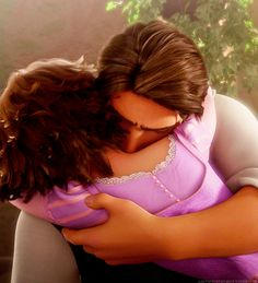 tangled. This scene - this still - is so powerful; it says so much without even showing their eyes