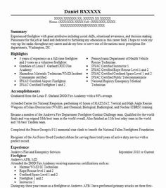 Firefighter Resume Example Resume Examples Resume