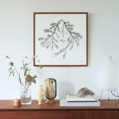 The modern Spruce branch wall art brings harmony to your home. Printed on high-quality, eco-friendly paper. Wood Poster Frames, Branch Art, Room Decor, Wall Decor, Eco Friendly Paper, Modern Cottage, Source Of Inspiration, Sustainable Design, Scandinavian Design