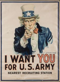 WWI 'I Want You' Poster  Starting Bid: $1,200