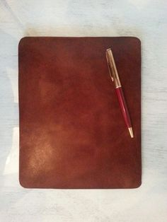 Leather Mouse pad / Mousepad (18x22 cm) Handmade in Greece