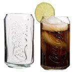 Coca-Cola Can-Shaped Beverage Glasses, 12 oz.