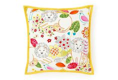 Love this pillow - they have many colorful, charming patterns - all on Playful Bedding page of One Kings Lane. $55
