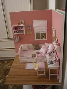 A room diorama 1:6 for pullip, blythe, momoko, barbie, licca, azone, pure neemo…