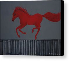 Horse Painting Canvas Print featuring the painting From Theory To Experience by THELLI Helenia Tedesco
