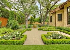 Image result for box hedging with flowers in middle
