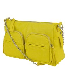A faux leather chain strap crossbody, by Forever 21.