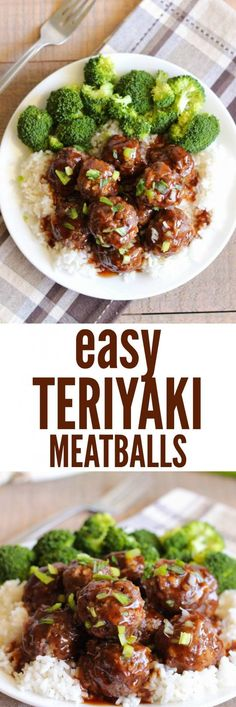 Easy Teriyaki Meatballs come together fast and make such an amazing meal with the sweet teriyaki sauce. This will become a family favorite!