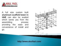 Aluminium scaffold towers in UAE are for the most part utilized by all experts, yet you need to go for what works out the best for you.