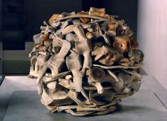 Whale bone sculpture by Andy Goldsworthy