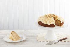 Macadamia, Orange and Butterscotch Cake Gluten Free Desserts, Dessert Recipes, Butterscotch Cake, Easter Recipes, Food Allergies, Orange, Gold, Desert Recipes, Gluten Free Sweets