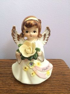 On Sale was 18.00 Vintage March Angel Figurine Lefton KW 6224 by VintageLove50 on Etsy https://www.etsy.com/listing/190503746/on-sale-was-1800-vintage-march-angel