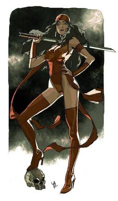 Daily sketch 0412 - Elektra by Kim Il Kwang Rare Comic Books, Comic Book Characters, Comic Book Artists, Marvel Characters, Comic Artist, Comic Character, Comic Books Art, Marvel Dc, Marvel Comics Art