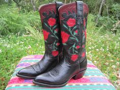 SALE Western Rodeo Fancy Leather by BuffaloGalsBootique on Etsy, $205.00