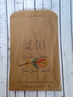 Fall Wedding Custom Favors Cookie Buffet Bags Recycled Brown Craft Paper Cake Treat Bags tribal on Etsy, $45.00