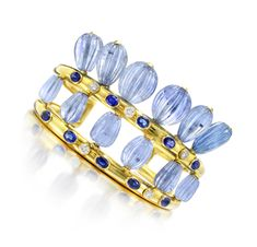 A Sapphire and Diamond Cuff Bracelet, by Suzanne Belperron. Via FD Gallery, www.fd-inspired.com